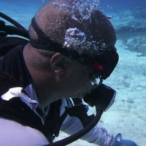 Bostick, 50, now explores the life of a scuba diver with his free time. (PHOTO COURTESY: Harold Leon Bostick)